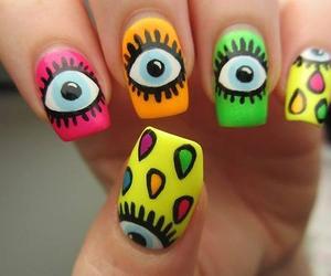 nails, eyes, and pink image