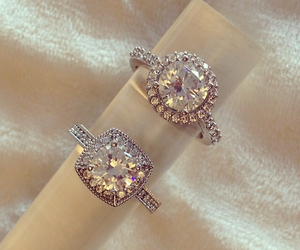 engagement, rings, and wedding image