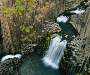 iceland, waterfall, and life image