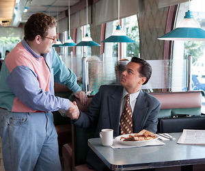 leonardo dicaprio, the wolf of wall street, and jonah hill image