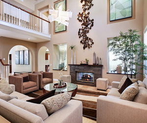 house, luxury, and living room image
