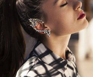 fashion, girl, and earrings image