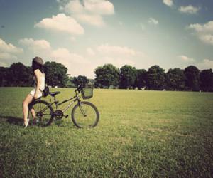 girl, bike, and photography image