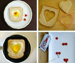 breakfast, heart, and cute image