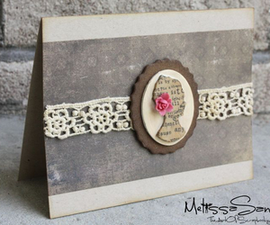 card, lace, and scrapbooking image