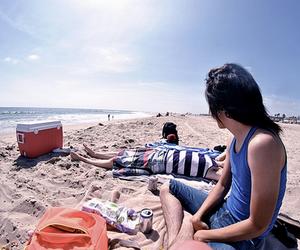 beach and boy image