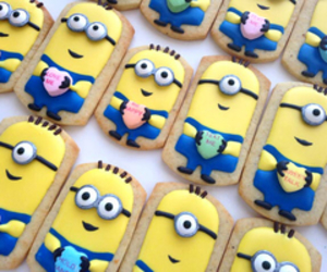 minions, food, and yellow image