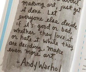 quote, art, and andy warhol image