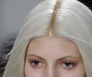 gold, model, and hair image