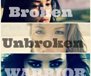 warrior, unbroken, and demi lovato image