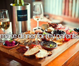 dinner, food, and parents image