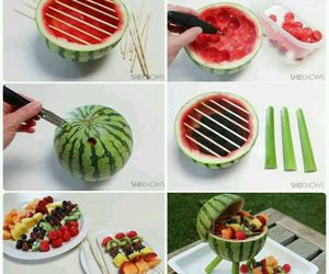 diy, watermellon, and food image