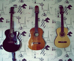 guitar, happiness, and music image