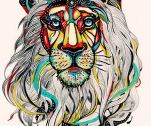 lion, art, and colors image