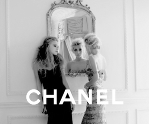chanel, olsen, and black and white image
