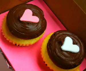 cupcake, cute, and heart image