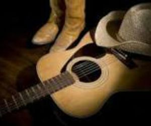 boots, guitar, and cowboy hat image