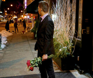 love, rose, and man image