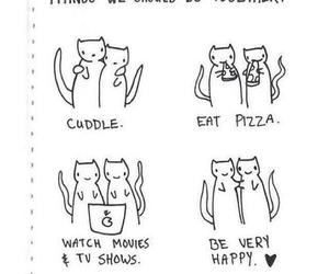 cat, love, and cuddle image