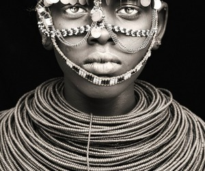 africa, black and white, and jewelry image