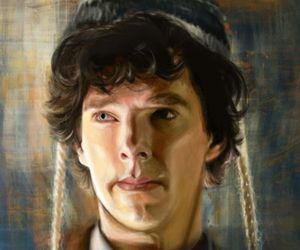 sherlock, art, and benedict cumberbatch image