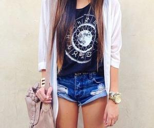 casual, thinspo, and short shorts image