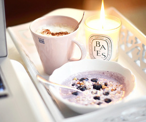 breakfast, food, and candle image
