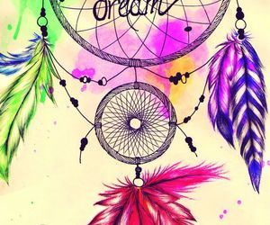 dreamcatcher, dreamer, and feather image