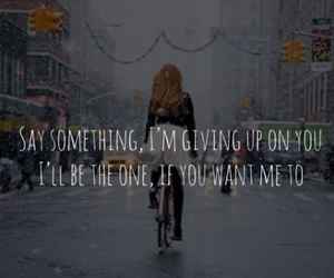 say something, girl, and Lyrics image