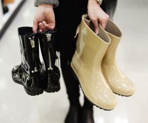 boots, girly, and shoes image