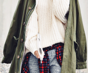 army, fashion, and flannel image