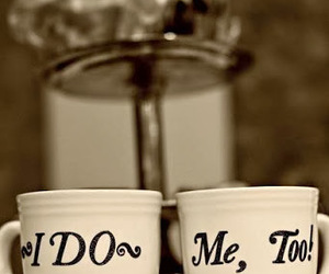 coffee cup, couple, and photography image