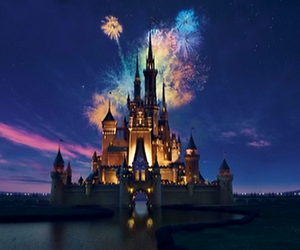 castle, firework, and love image