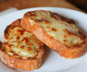 bread, cheese, and pizza image