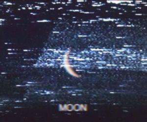 moon, grunge, and dark image