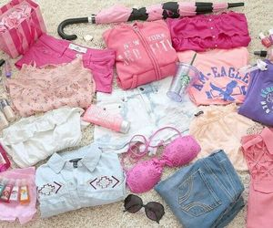 pink, clothes, and shopping image