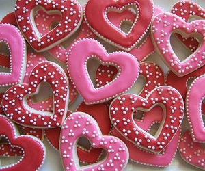 Cookies, pink, and love image