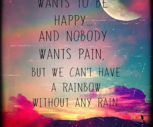 rainbow, happy, and rain image