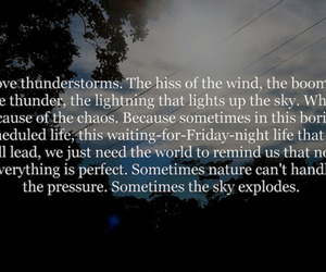 quote, text, and thunder image
