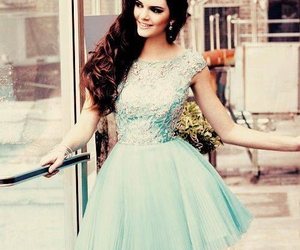dress, kendall jenner, and blue image