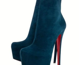 fashion, red sole shoes, and red bottom high heels image