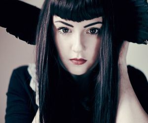 beauty, goth girl, and model image