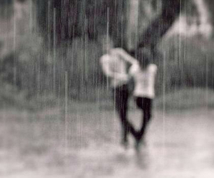 couple, cute, and rain image