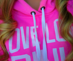 pink, blonde, and curls image