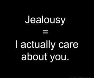 quote, jealousy, and care image