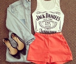 clothes, jack daniels, and outfit image