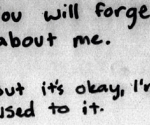 quote, forget, and sad image