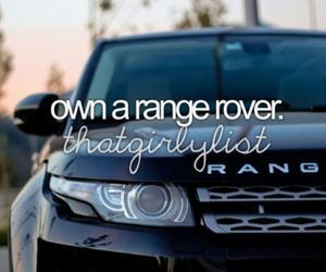 range rover, car, and luxury image