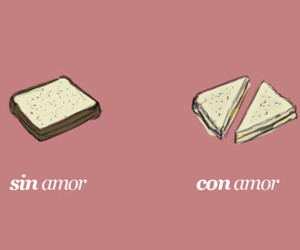 love and sandwich image