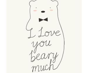 bear, cute, and love image